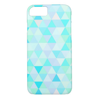 Fun and Cool Tiled Blue triangles Pattern iPhone 8/7 Case