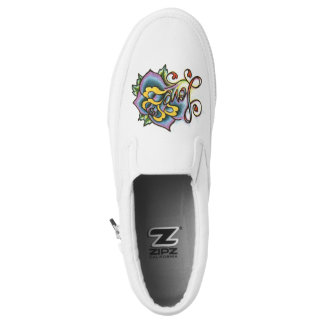 Fun and cool wear slip on printed shoes