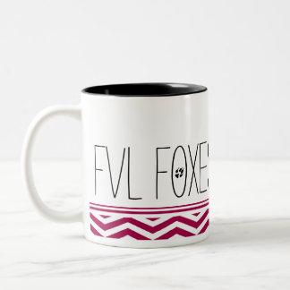 Fun and Customizable FVL Foxes Chevron Two-Tone Coffee Mug