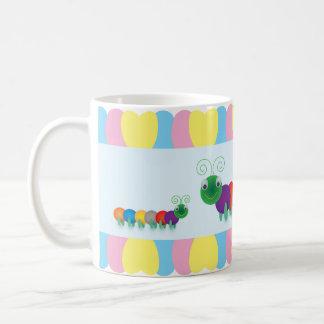 Fun and cute Caterpillars Basic White Mug