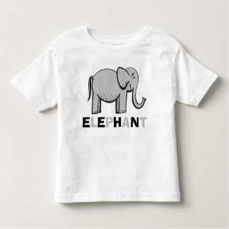 Fun and Cute Elephant Drawing Toddler T-Shirt