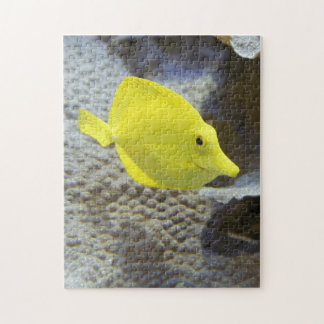 Fun And Cute Ocean Yellow Coral Fish Educational Jigsaw Puzzle