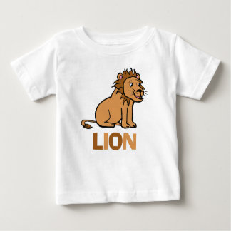 Fun and Cute Smiling Male Lion Illustration Baby T-Shirt