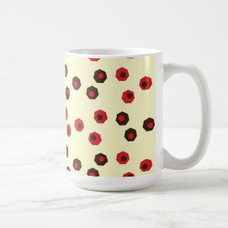 Fun and Earthy Geometic Pattern Coffee Mugs