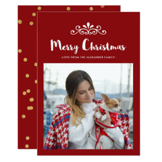Fun and Festive Christmas Confetti Photo Card