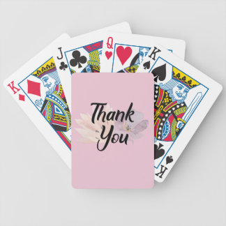 Fun and Floral Thank You Gift Bicycle Playing Cards