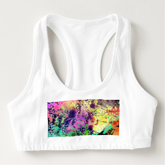 Fun and Funky Abstract Pattern Sports Bra