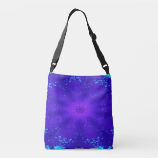 Fun and funky kaleidoscope pattern crossbody bag