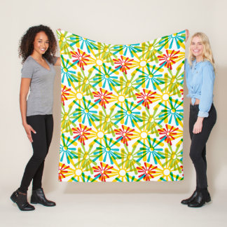 Fun and Funky Retro Fleece Blanket