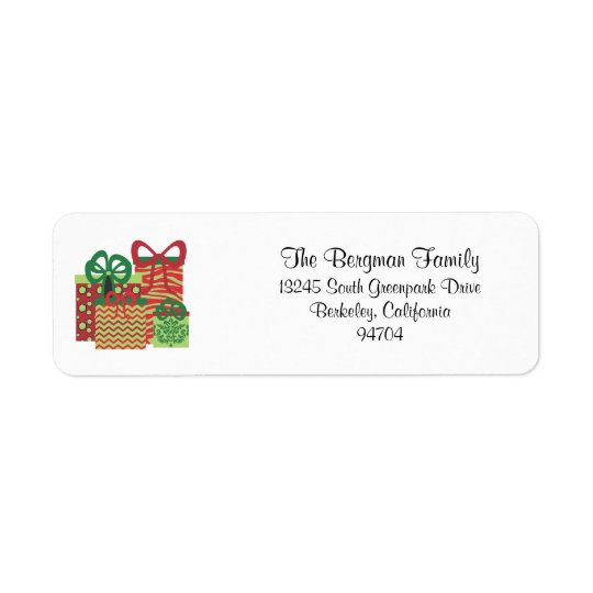 Fun and Modern Christmas Return Address Labels