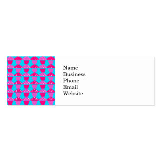 Fun and Sassy Hot Pink and Purple Cupcakes Pack Of Skinny Business Cards