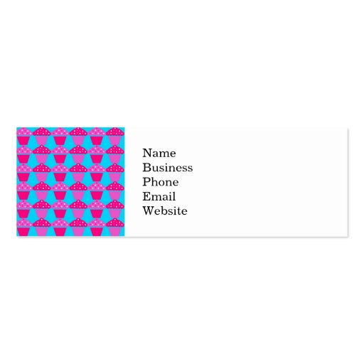 Fun and Sassy Hot Pink and Purple Cupcakes Business Cards