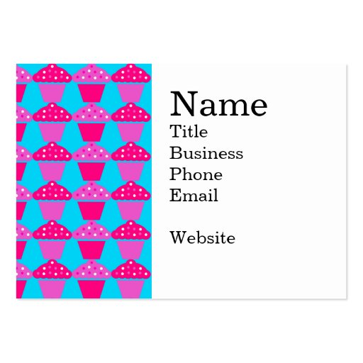 Fun and Sassy Hot Pink and Purple Cupcakes Business Card
