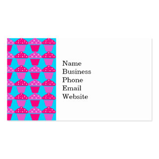Fun and Sassy Hot Pink and Purple Cupcakes Pack Of Standard Business Cards