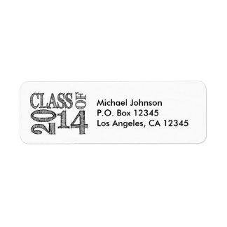 Fun and Simple Pen Sketch Class of 2014 Return Address Label