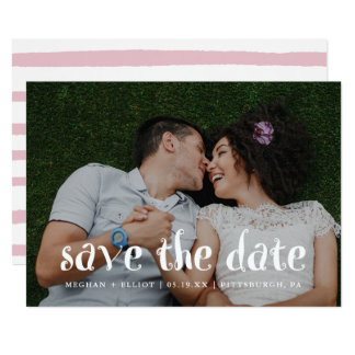 Fun and Trendy Watercolor Save the Date Photo Card