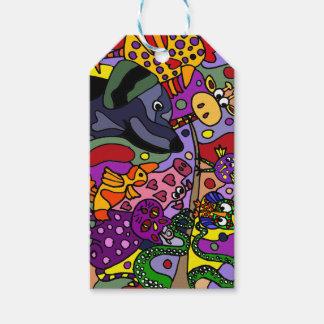 Fun Animal Abstract Art Gift Tags