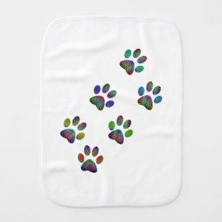 Fun animal paw prints. baby burp cloths