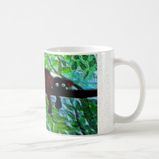 Fun Animal Red Lemur relaxing Coffee Mug