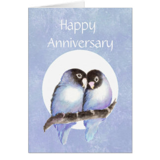Fun Anniversary Love bird Humor Card