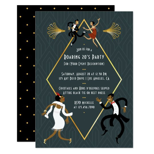 Fun Any occasion Roaring 20's Party Invitation
