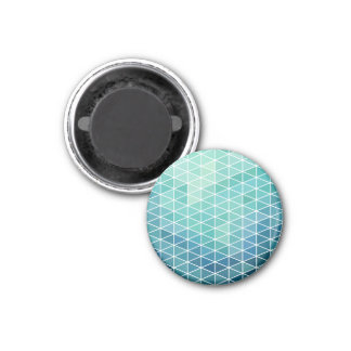 Fun Aqua Triangle Design 1 Inch Round Magnet