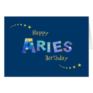 Fun ARIES Zodiac Sign Birthday Greeting Greeting Card