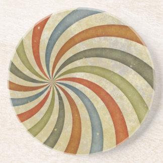 Fun Art Deco Colorful Swirl Beverage Coaster