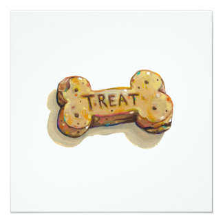 Fun art treat for dog lovers sitters trainers pets 5.25x5.25 square paper invitation card