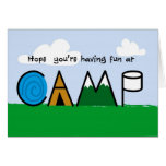 Fun at Camp Picture Letters greeting Card
