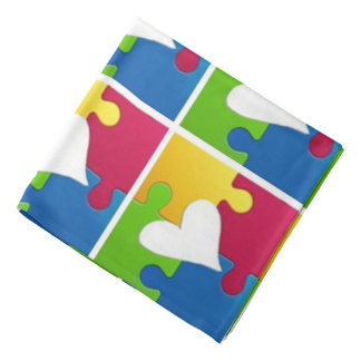 Fun Autism Awareness Bandana