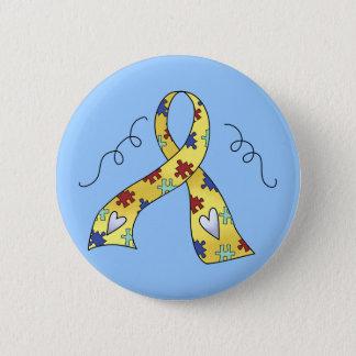 Fun Autism Ribbon Of Awareness Gift 6 Cm Round Badge