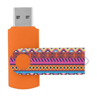 Fun Aztec Tribal Borders USB Flash Drive