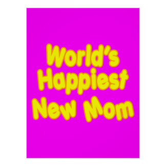 Fun Baby Showers New Moms  Worlds Happiest New Mom Print