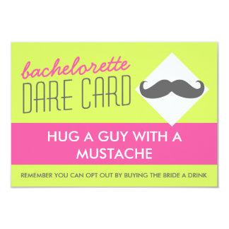 Fun Bachelorette DARE game card - hug a guy 9 Cm X 13 Cm Invitation Card