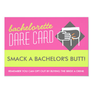 Fun Bachelorette DARE game card - smack a butt 9 Cm X 13 Cm Invitation Card