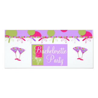 Fun Bachelorette Party Invitations. Purple & Pinks 10 Cm X 24 Cm Invitation Card
