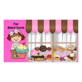 Fun Baked Goods Rag Doll Business Cards