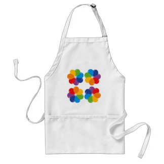 Fun Balloon Flower Pattern Standard Apron
