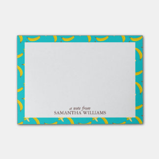 Fun Bananas Pattern Personalized Post-it® Notes