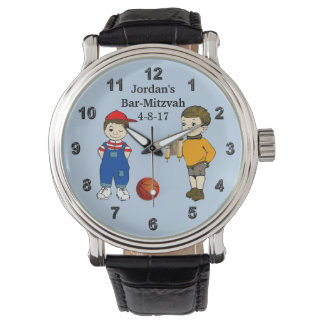Fun Bar-Mitzvah Gifts for Boys with Your Text Wrist Watches