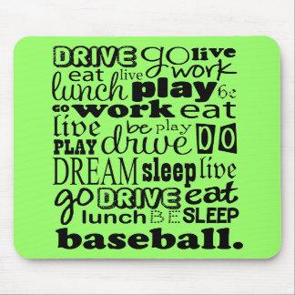 Fun Baseball Sports Living Mousepads