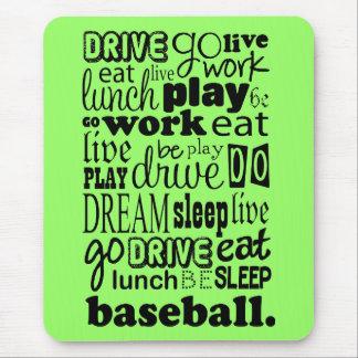 Fun Baseball Sports Living Mouse Pad