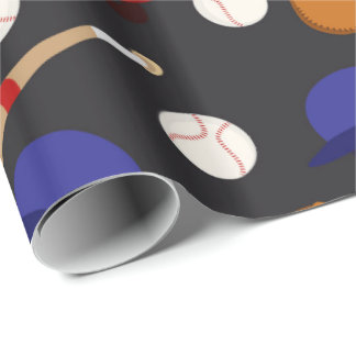 Fun Baseball sports pattern wrapping paper