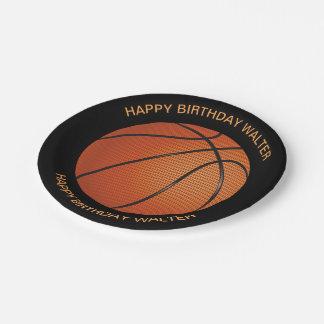 Fun Basketball Mens Birthday Paper Plate