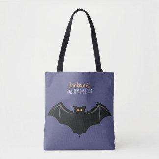 Fun Bat Kids Halloween Trick or Treat Tote Bag