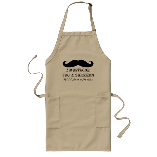 Fun BBQ apron for men | I moustache