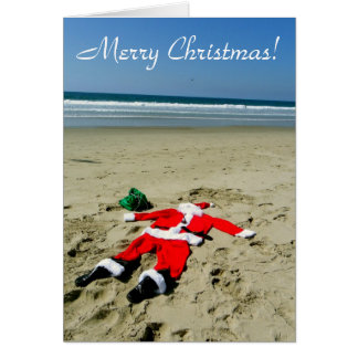 Fun Beach Christmas Greeting Card! Card