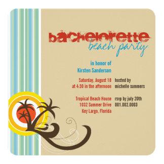 Fun Beach Holiday Bachelorette Party Invite