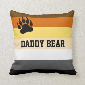 Fun Bear Pride Throw Pillow